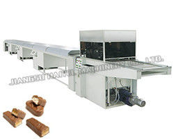 Stainless Steel Chocolate Enrobing Line Snack Bar Coated Operating Smoothly