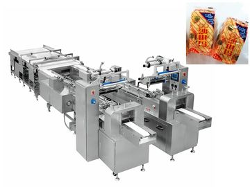 China Automatic Bread Snack Food Production Line / Flow Wrapping Machine supplier