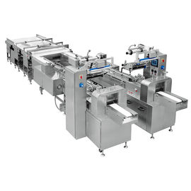 China Touch Screen Snack Food Production Line / Cake Packaging Machine factory