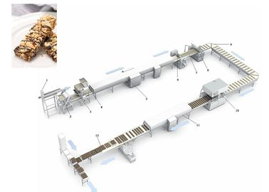 Protein Candy Production Line / Chocolate Nougat Bar Making Machine