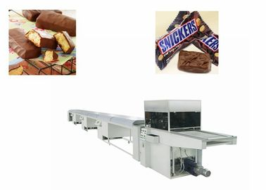 Automatic Snack Pie Coated Chocolate Bar Production Line Belt Width 400 mm