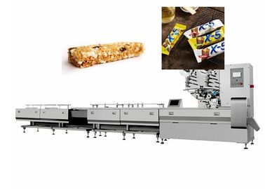 China Manual Putting Chocolate Bars Flow Packing Machine 304 Stainless Steel factory