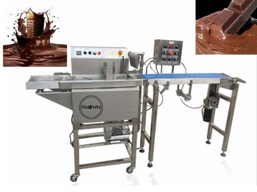 380V Chocolate Bar Production Line / Commercial Hot Chocolate Coating Machine