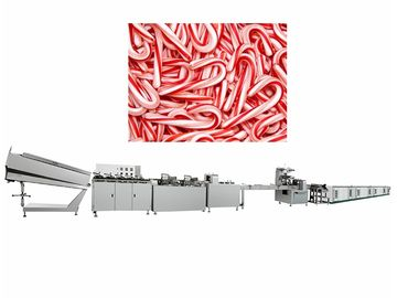 Automated Candy Cane Crutch Lollipop Forming Machine 150-300 Pack / Minute