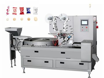 3P Pastry Packaging Machine / Candy Sweets Pillow Pouch Packaging Machinery