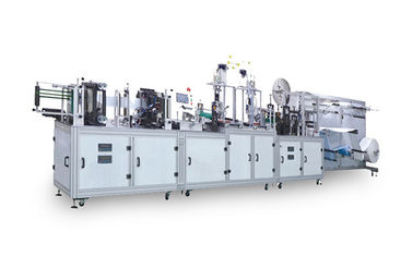 One Drive Two Flat Face Mask Making Machine / Surgical Mask Machinery Fully Automatic