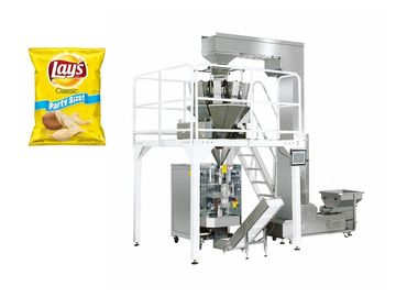 Electric Driven Type Vertical Snack Packing Machine Fast Speed 5-60 Bags / Min