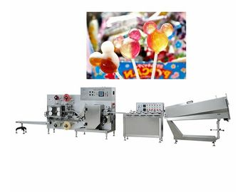 Flat Lollipop Molding Candy Packaging Machine Capacity 200-600pcs / Min