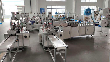 9 KW 130 Pcs / Min 99% 3 Ply Mask Making Production Line