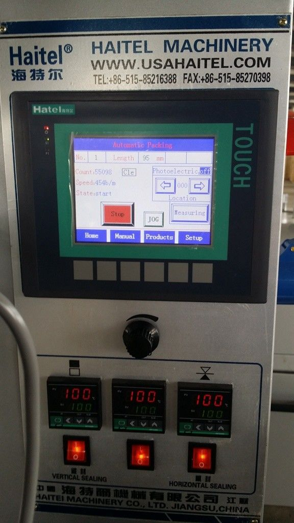 Pillow Type Commercial Food Packaging Machine Convenient Quick Parameter Setting