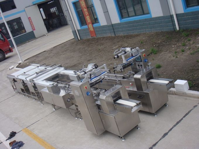 Automatic Bread Snack Food Production Line / Flow Wrapping Machine